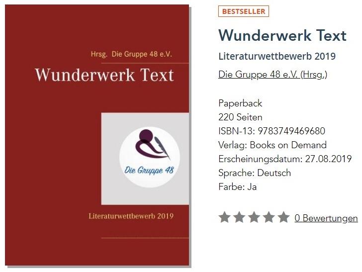 Wunderwerk Text ist ein Bestseller