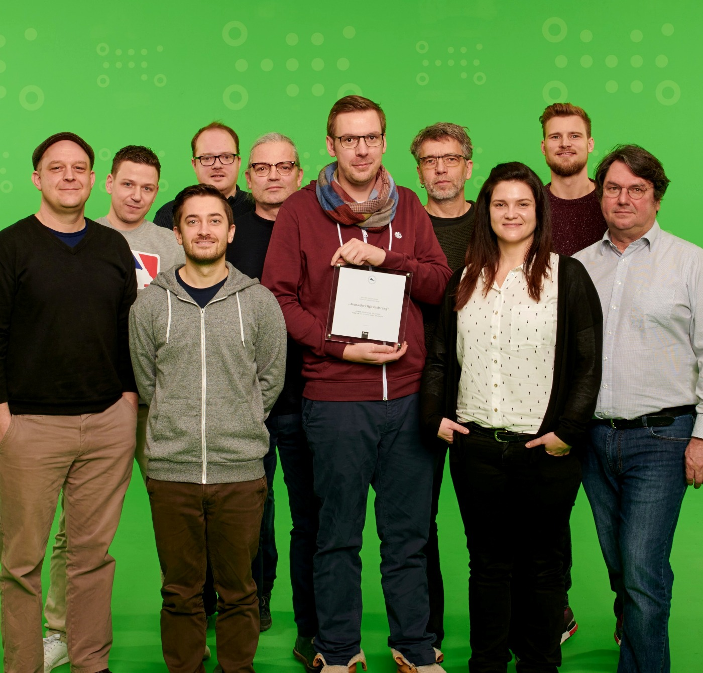 "(Foto: hl-studios, Erlangen): Team ""hl-studios"" Erlangen gewinnt bei den Econ Megaphon Awards 2018"