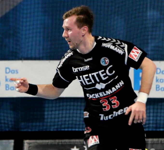 (Foto: HJKrieg, Erlangen): Nationalspieler Nikolai Link fällt verletzt für Wochen aus