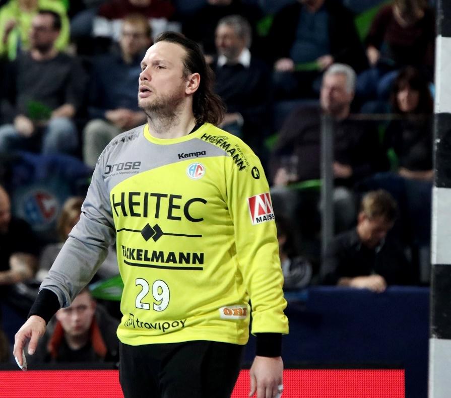 (Jocki_Foto, Erlangen) Nikolas Katsigiannis wurde mit seiner einzigen Parade zum Matchwinner