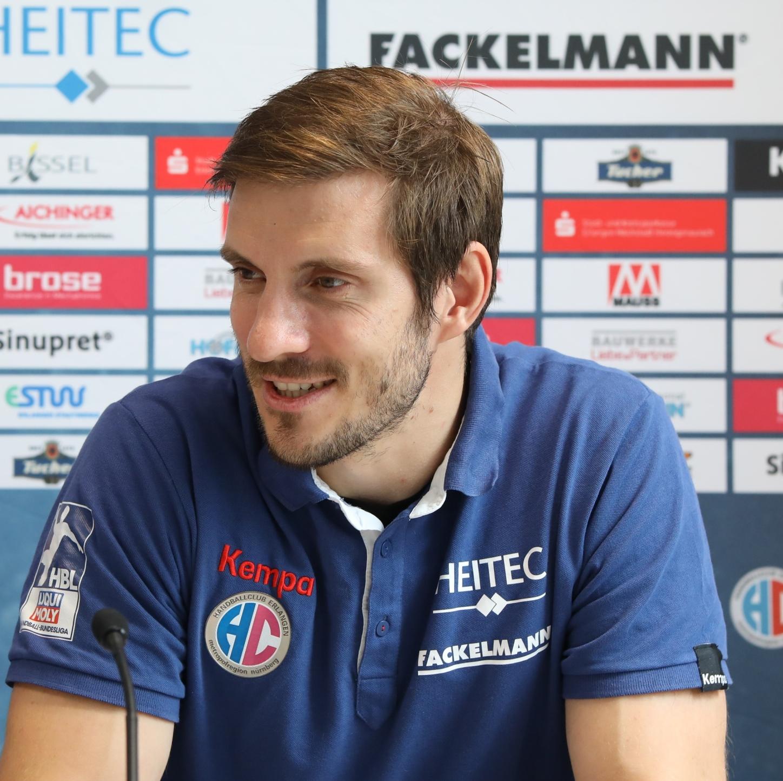 (Jocki_Foto, Erlangen): Michael Haaß - HCE-Kapitän und Weltmeister von 2007 - freut sich auf Lemgo