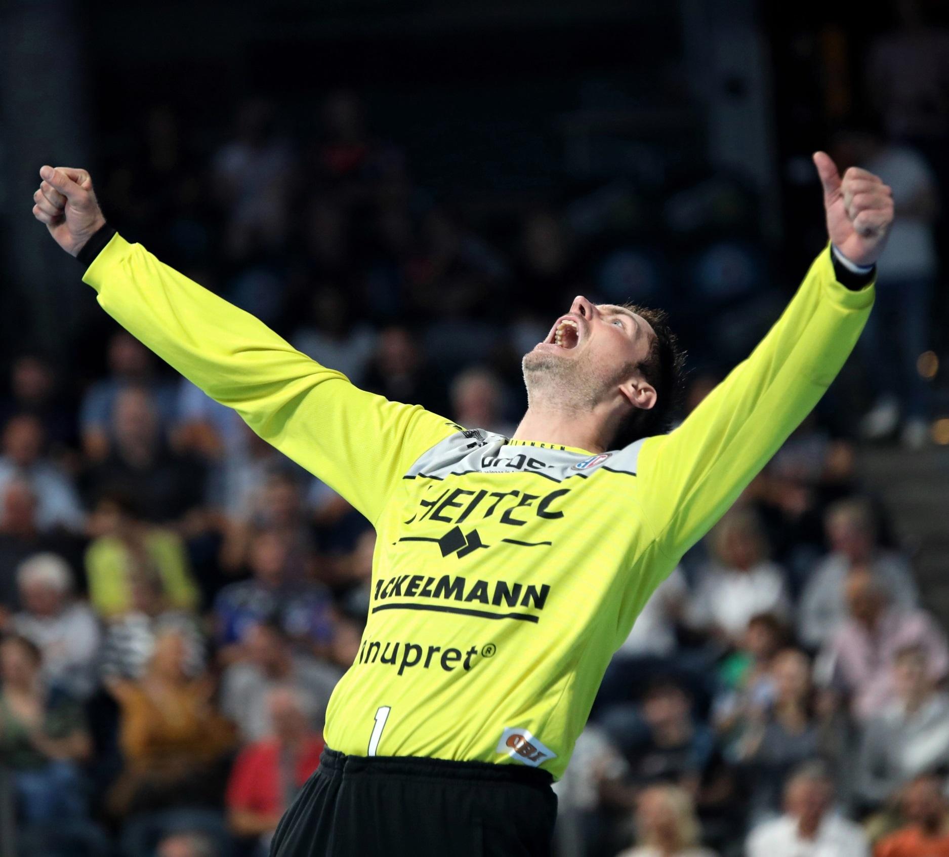 (Jocki_Foto, Erlangen) - HCE-Torwart Lichtlein war beim letzten Spiel gegen Lemgo richtig stark