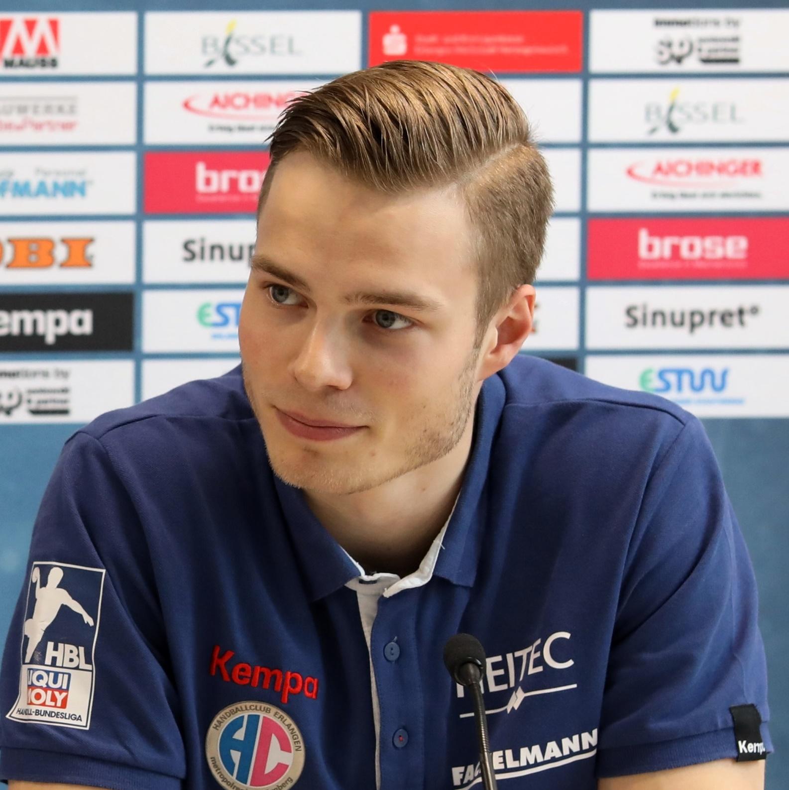 (Jocki_Foto, Erlangen): Wir werden uns für den Sieg zerreißen, so Christopher Bissel - HC Erlangen