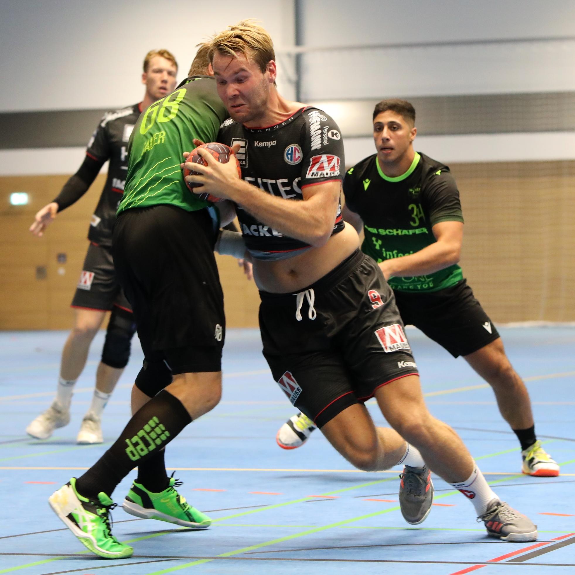 (#Jocki_Foto,Erlangen): HC Erlangen gewinnt Testspiel gegen die DJK Rimpar Wölfe