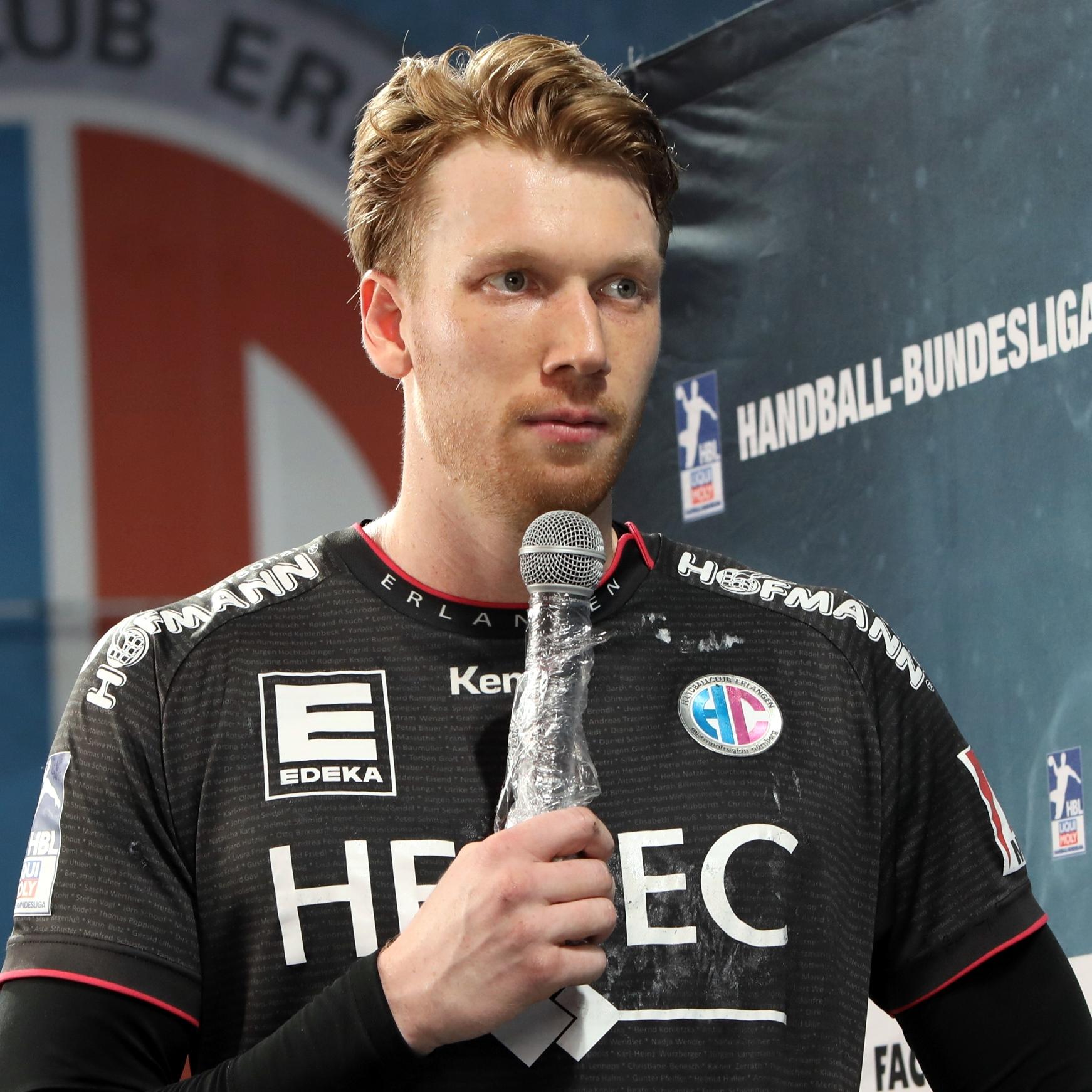(#Jocki_Foto, Erlangen): Bester Werfer des HC Erlangen war Simon Jeppsson mit sieben Treffern