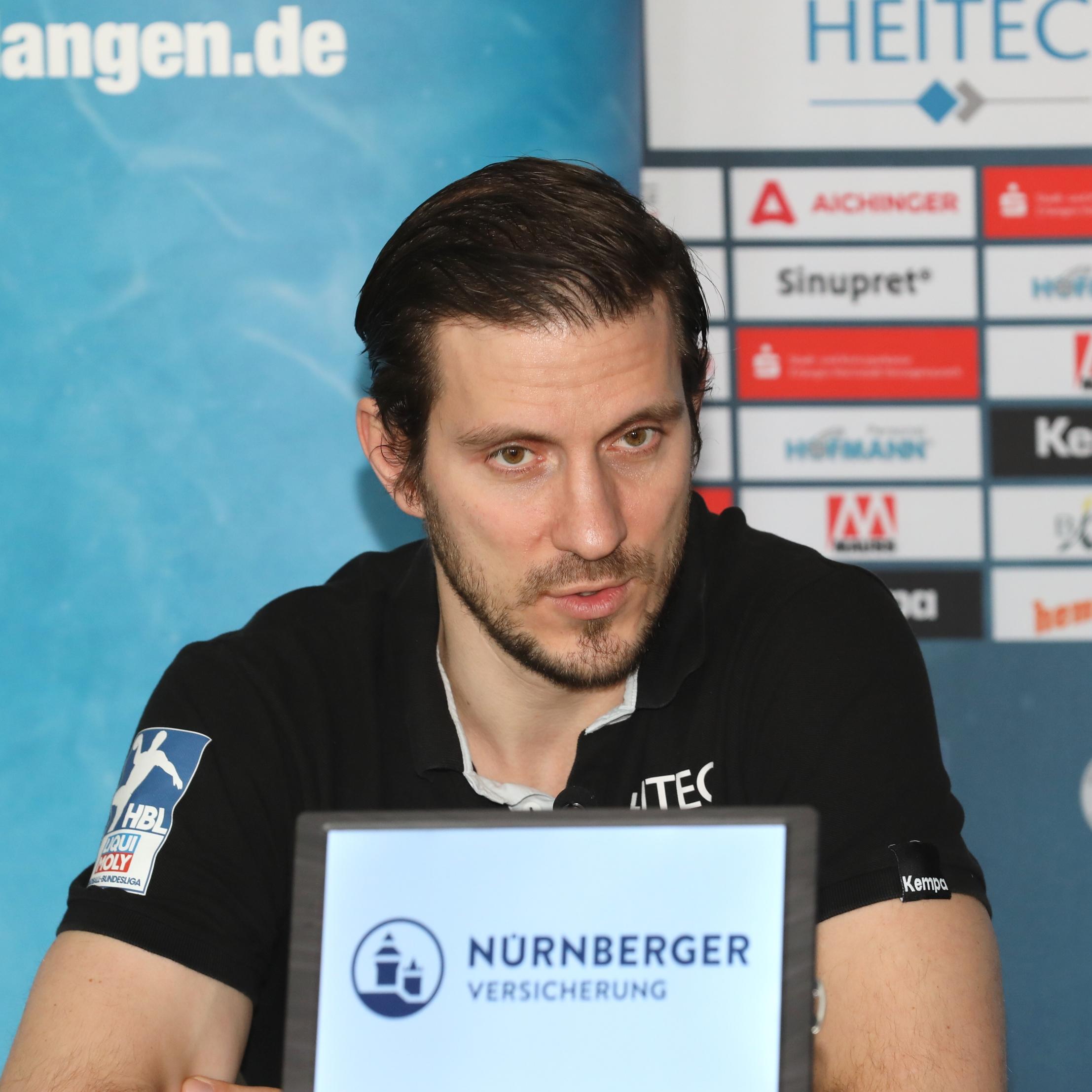 """(#Jocki_Foto, Erlangen) - HCE-Trainer Michael Haaß: """"Nordhorn hat sehr gute Spieler in ihren Reihen"""""""