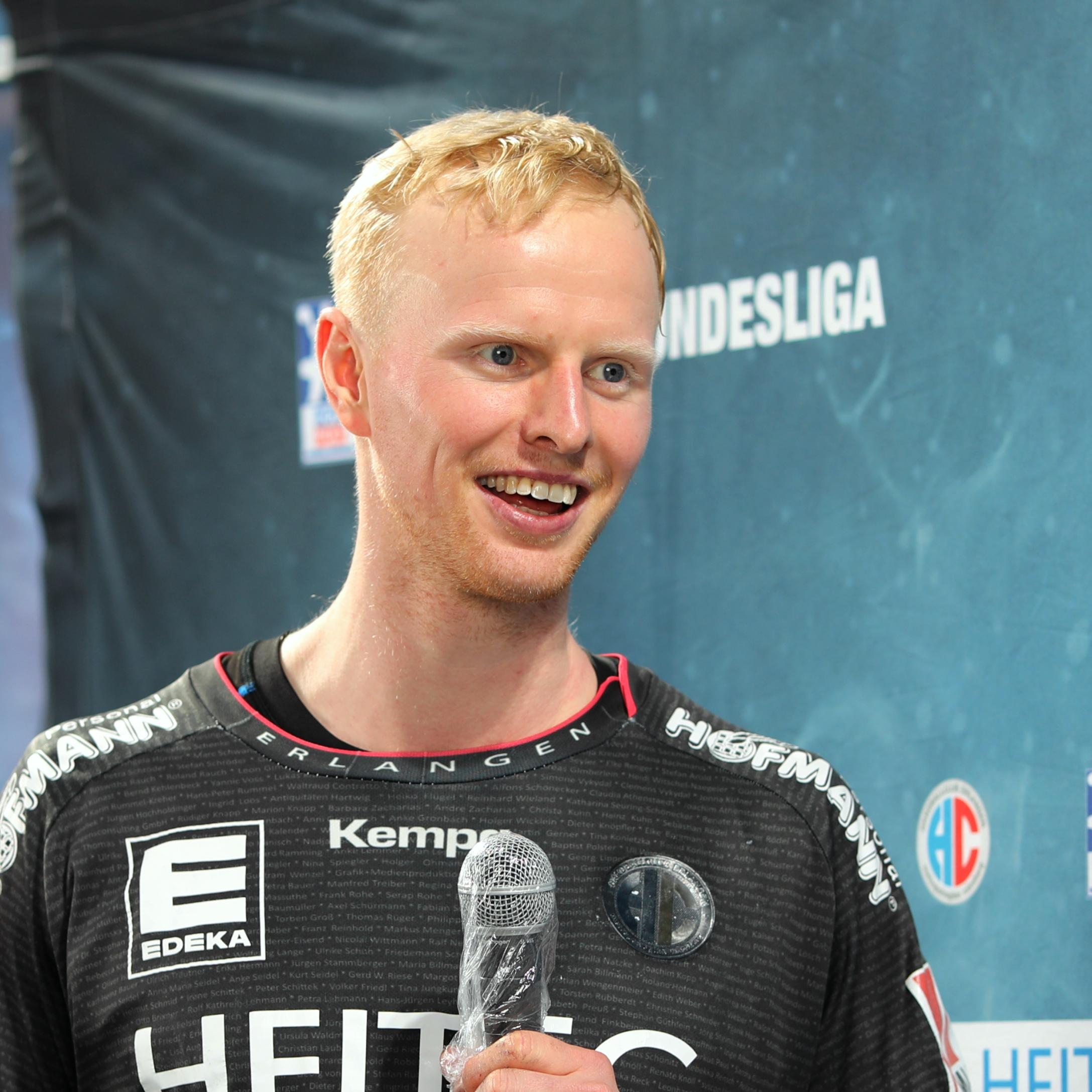 (© Jocki_Foto, Erlangen): Bester HC Erlangen-Werfer war Sebastian Firnhaber mit sieben Treffern