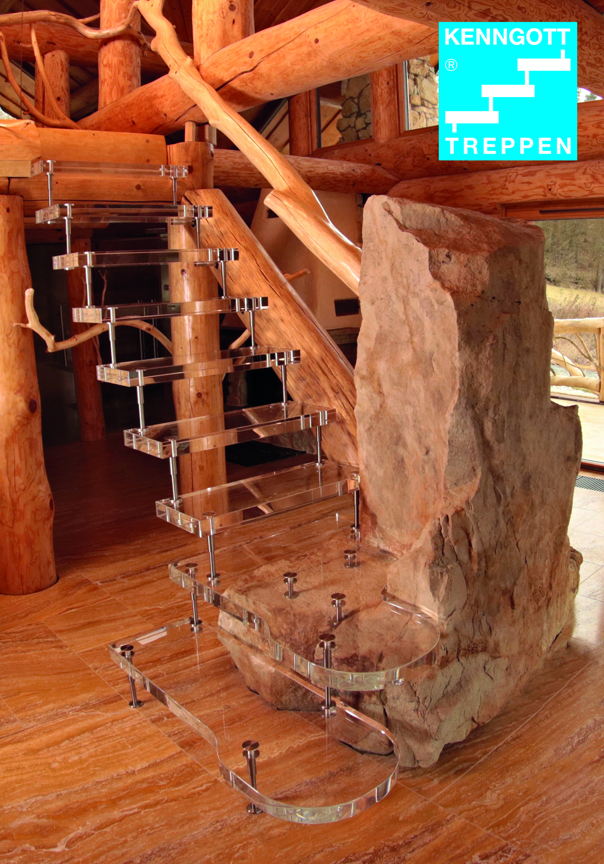 Acrylglas-Treppe