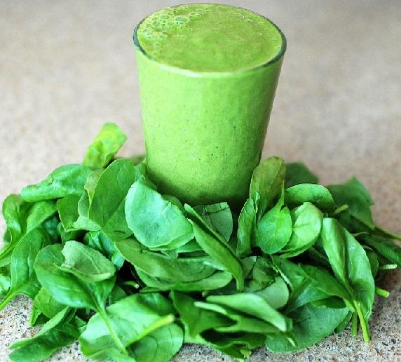 Spinat-Smoothie ohne Zucker