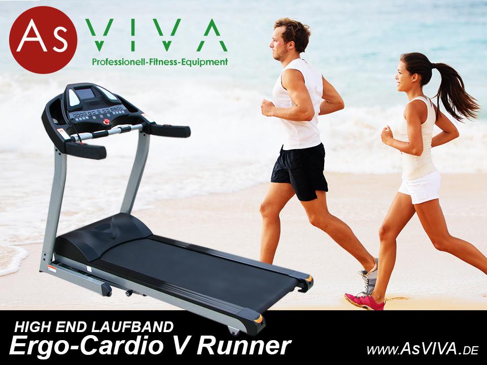 AsVIVA Laufband Ergo Cardio V Runner