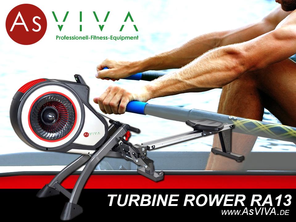 AsVIVA Rudergerät Turbine Rower RA13