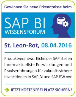 Infocient SAP BI-Wissensforum 2016