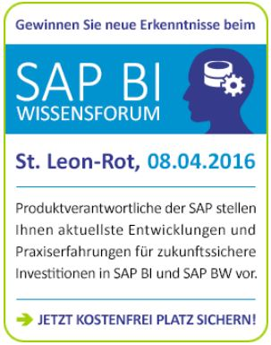 Infocient SAP BI-Wissensforum 2016