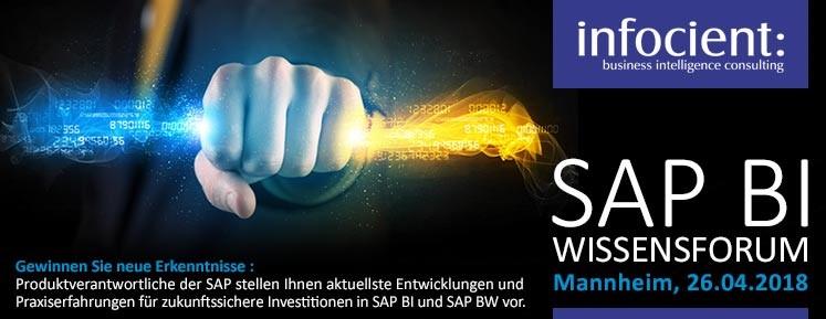 Banner SAP BI-Wissensforum 2018
