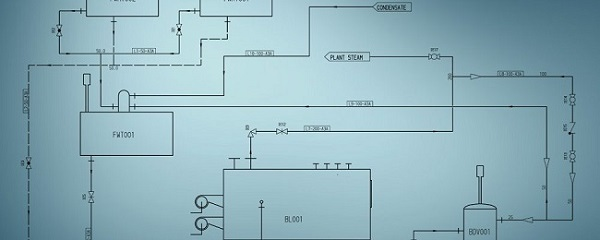 Fließschema: Vereinfachte Darstellung einer Anlage