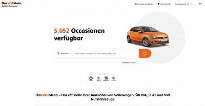 Screenshot der neuen Das WeltAuto Homepage