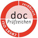 docConsult Prüfzeichen ISO 18587