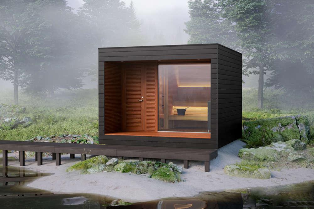 Eine private Sauna dient in Alltag und Freizeit als gemütlicher Rückzugsort.