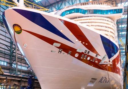 Die Iona von P&O Cruises im Dock