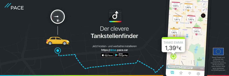 PACE bekommt 2-Millionen-Finanzierung von der EU und bringt Tank-App auf den Markt