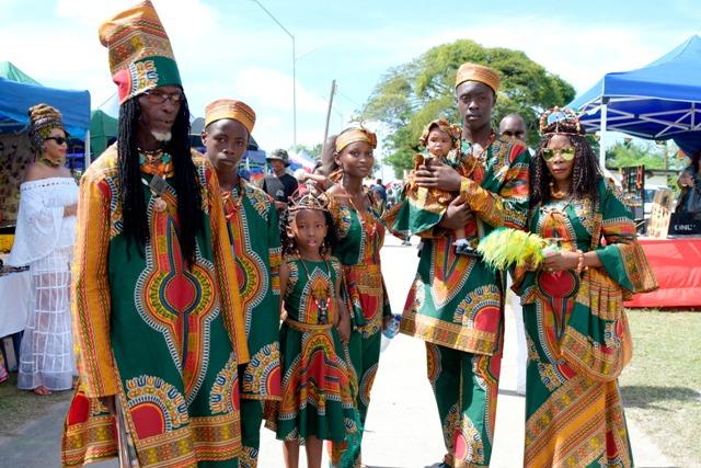 Afrikanische Kleidung dominiert am Emanzipationstag. Foto: Amanda Richards
