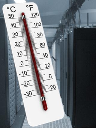 Temperatur Kontrolle mit Netzwerk Thermometer
