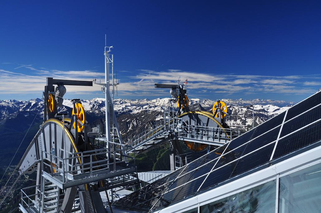 Seilbahn Mont Blanc, Aostatal, Italien