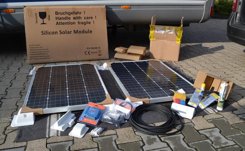Solaranlage im Wohnmobil