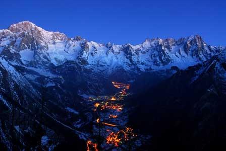 Sonnenuntergang Aostatal Mont Blanc © Foto archivio Regione Autonoma Valle d'Aosta