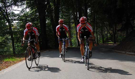 Radprofis unterwegs in Varese