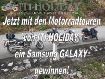Motorradtouren Vietnam gewinne ein Samsung GALAXY